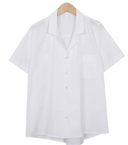 Elle collar half shirts_K (size : free)