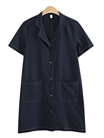 엘레나 린넨 셔츠 원피스 (2color)