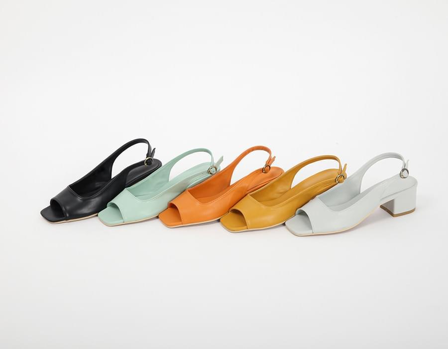 Apple open toe sandal_K (size : 225,230,235,240,245,250)