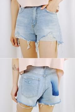Lily Lily Shed Denim Short P