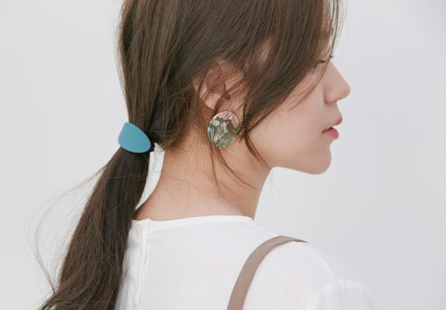 Sprinkle circle earring_H (size : one)