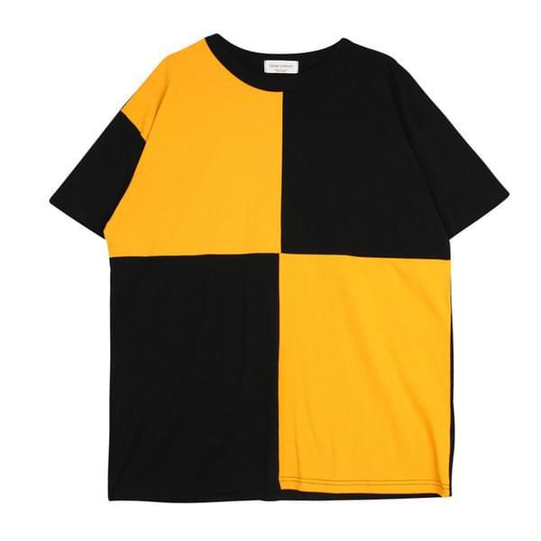 사각배색티셔츠 (t2943)