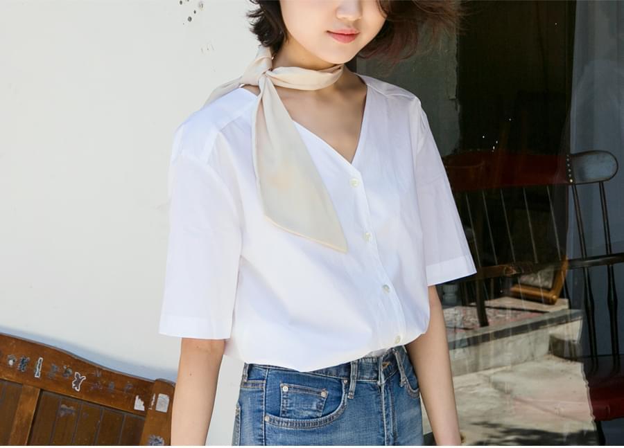 Flat cotton half shirts_B (size : free)