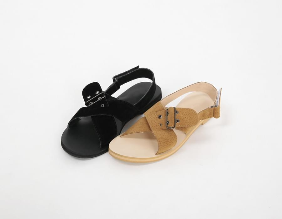 Skin buckle cover sandal_M (size : 225,230,235,240,245,250)
