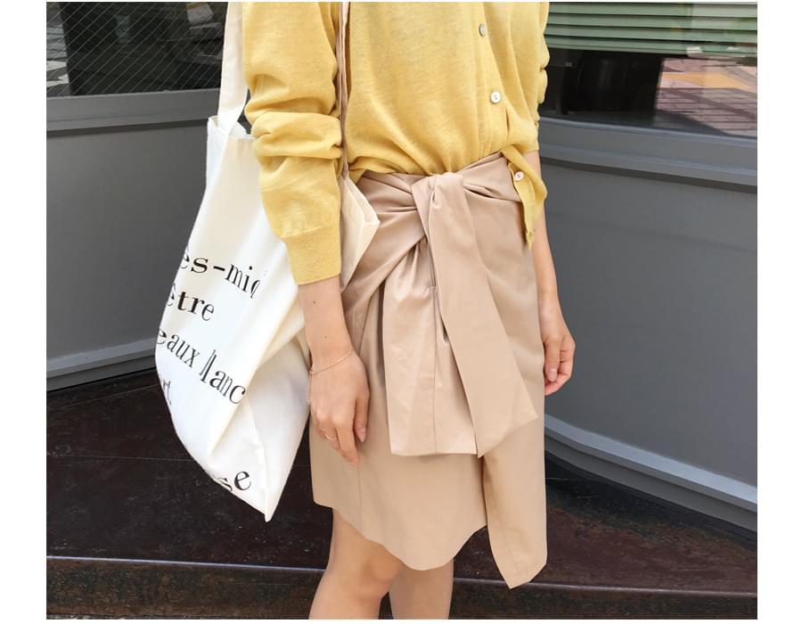 Wonder ribbon tie skirt_S (size : S,M)