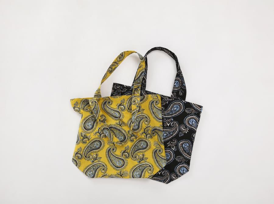 Paisley cotton bag_B (size : one)