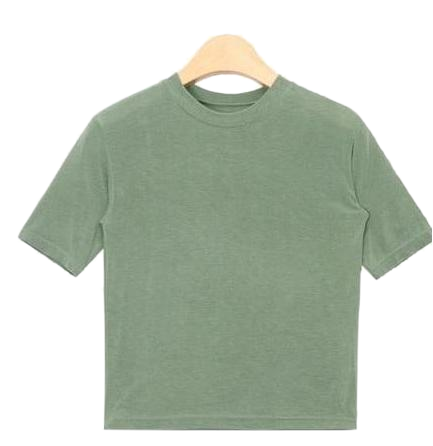 boo span crop T (5 colors)
