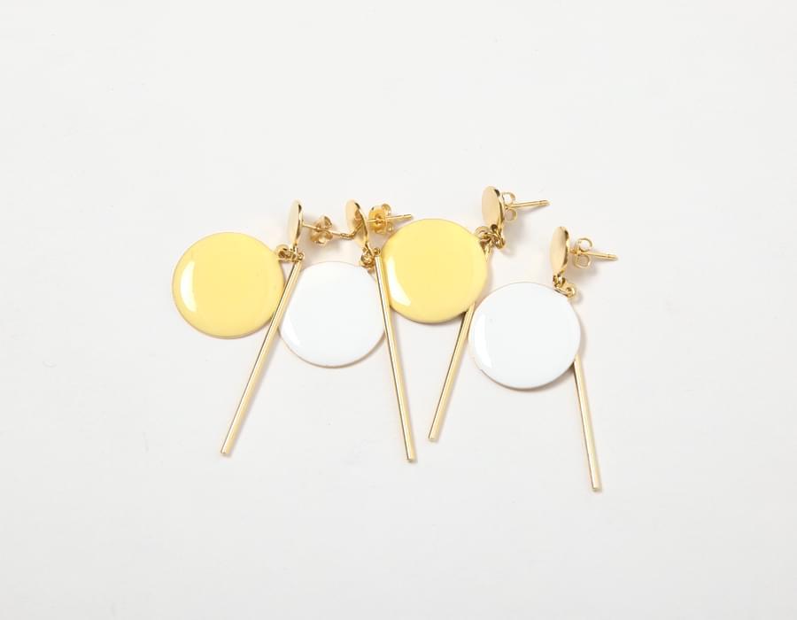 Lemon stick pendant earring_M (size : one)