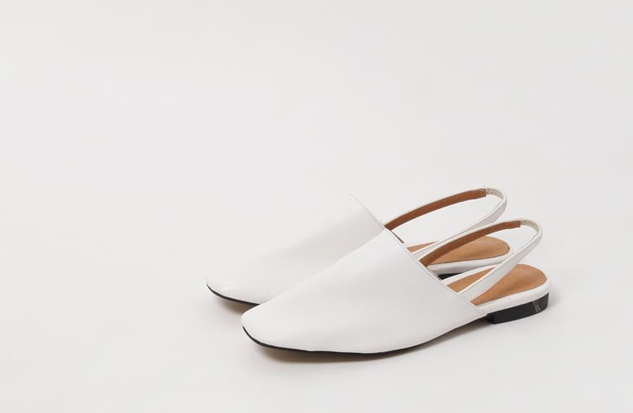 Box banding slingback shoes_H (size : 230,235,240,245,250)