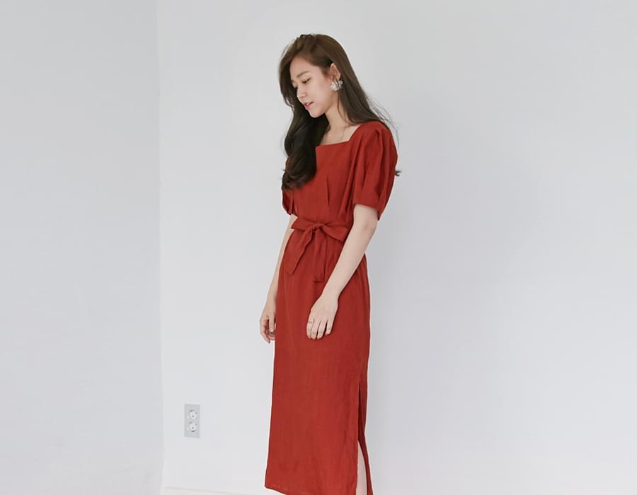 Apron linen long ops_B (size : free)