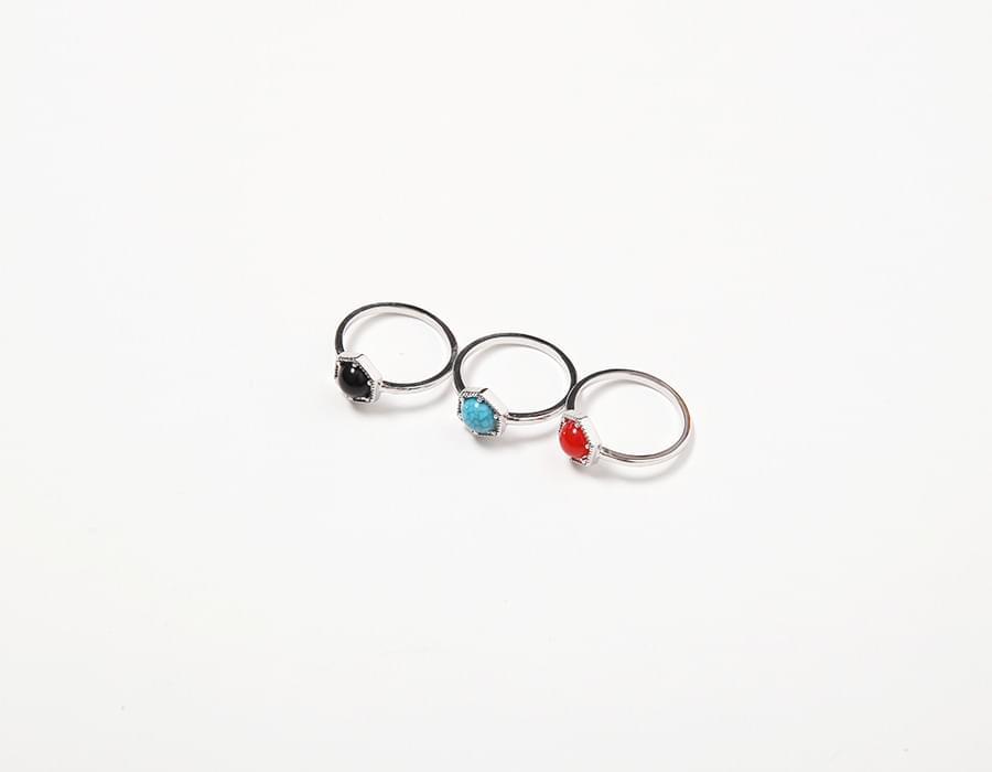 Crack stone ring_K (size : one)