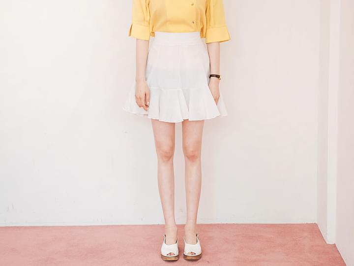 LOVELY FLARE BANDING SKIRT