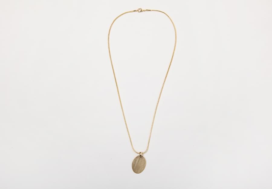 Lost golden necklace_H (size : one)