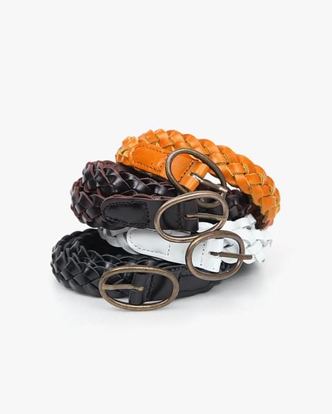 mesh oval buckle belt (4 colors)