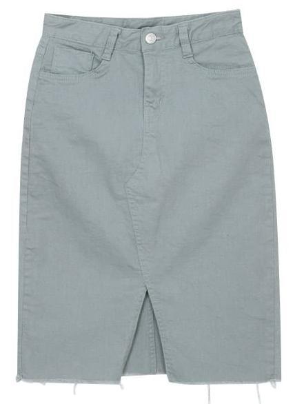 쫀쫀 삼각 트임 스커트 (4color)