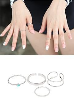 韓國空運 - Fact ring ring SET 戒指
