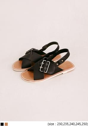BIG BUCKLE COVER STRAP SANDAL
