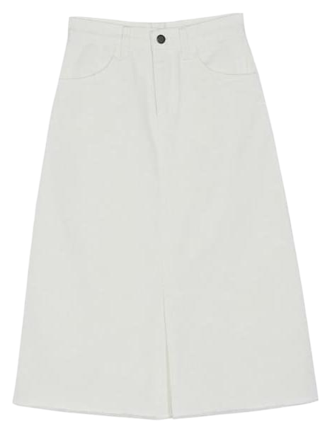 a-line slit long skirt