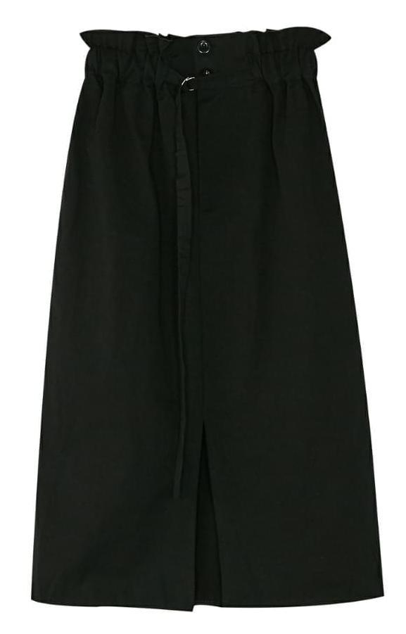 mango belted slit skirt