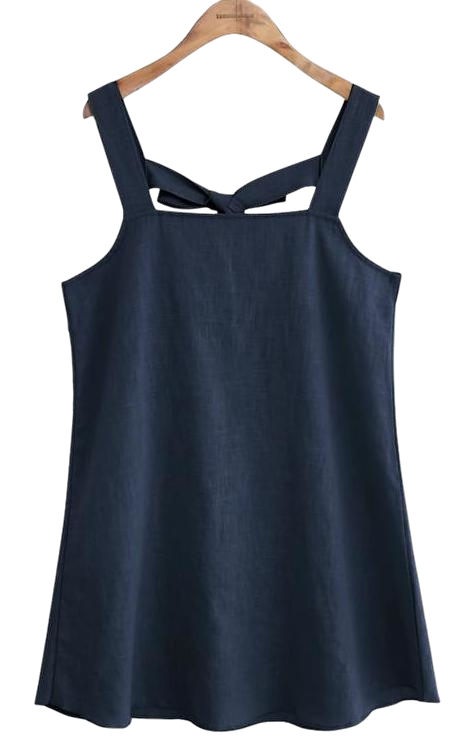 LINEN BACK RIBBON OVERALL OPS