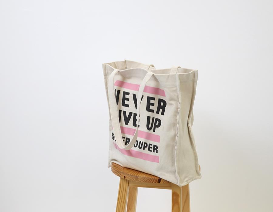 Never printing canvas bag_S (size : one)