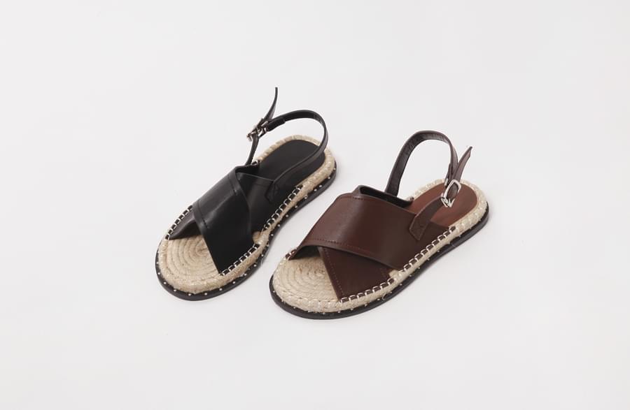 X-cover espadrille belt sandal_H (size : 225,230,235,240,245,250)