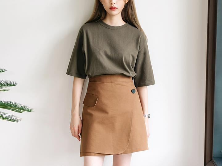 COLOR MIX WRAP SKIRT - 2 TYPE