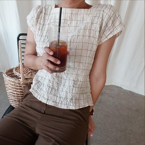 Cracker-blouse [size: 44 ~ thin 66 / 1color]