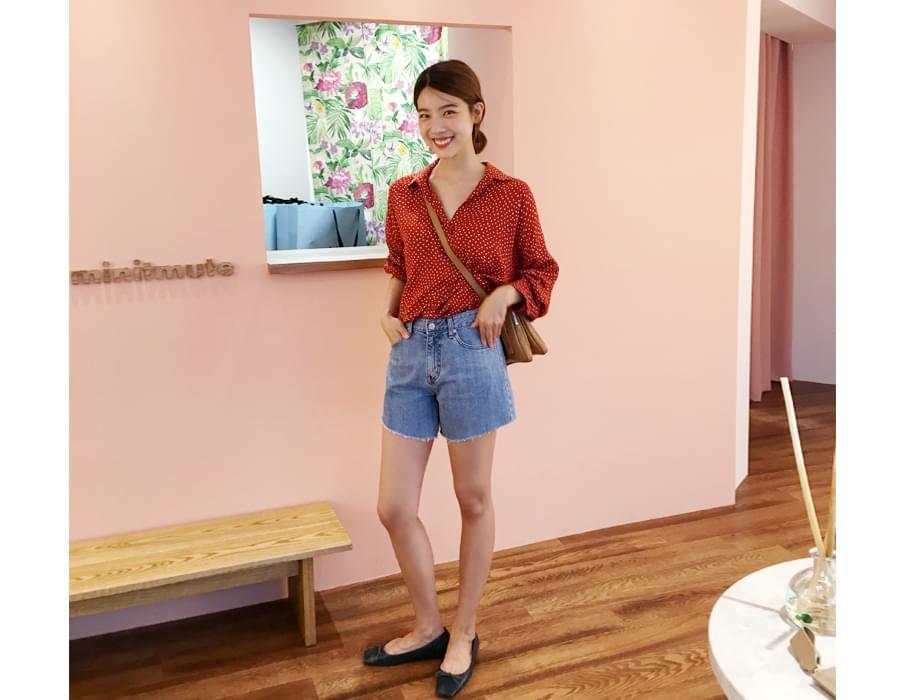 Clair dot blouse_S (size : free)