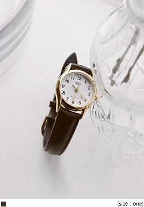 CASIO ANTIQUE LEATHER WATCH