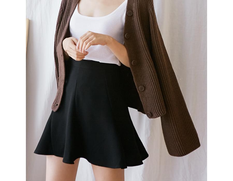 Bonbon flare mini skirt_M (size : S,M)
