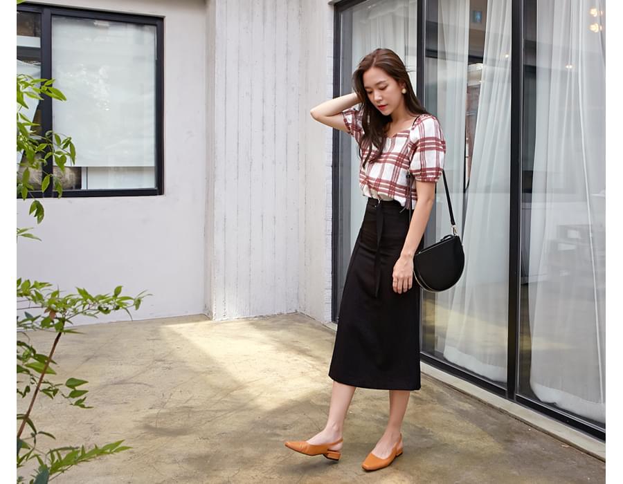 Ring belt classy skirt_S (size : S,M)