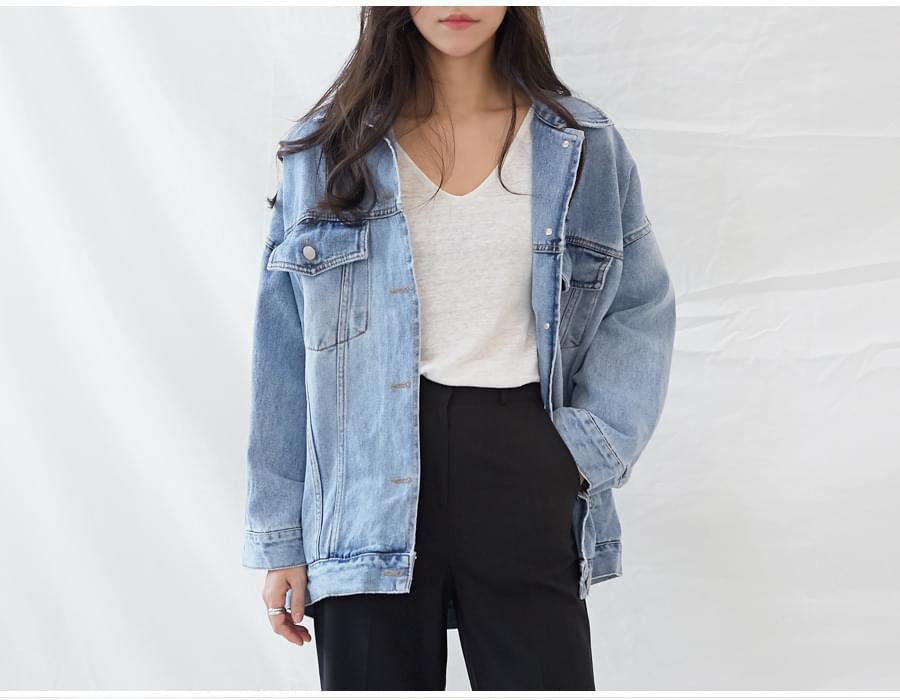 Awesome over denim jacket_K (size : free)