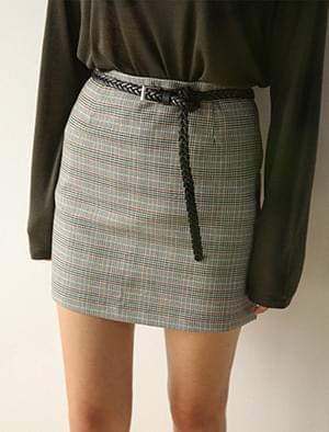 retro check mini skirt