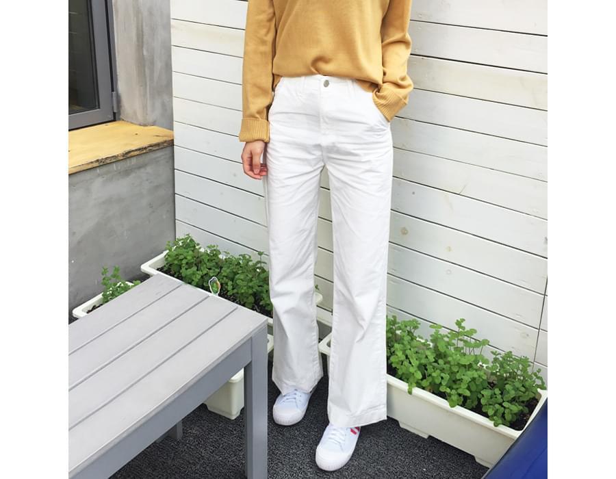 Clear boy-fit cotton pants_M (size : S,M,L)