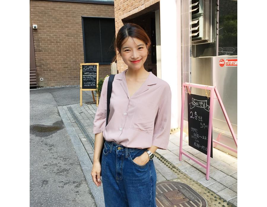 Soft feeling collar blouse_M (size : free)