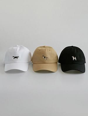dog embroidery ball cap