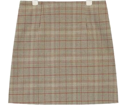 point color mix check mini skirt (s, m)