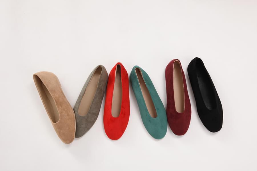 Autumn sweat flat shoes_H (size : 230,235,240,245,250)