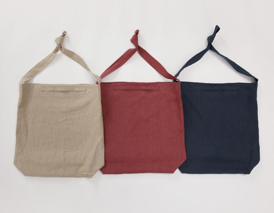 Easy linen basket bag_M (size : one)