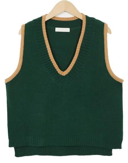 A peanut knit vest_H (size : free)