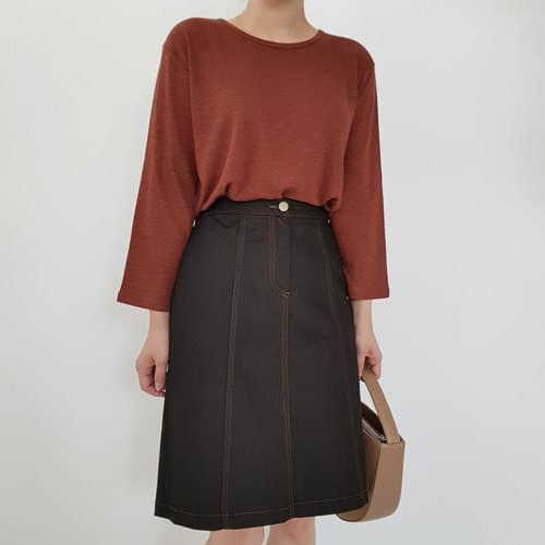 Stitch A-line skirt