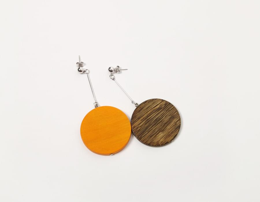 Timber drop earring_M (size : one)