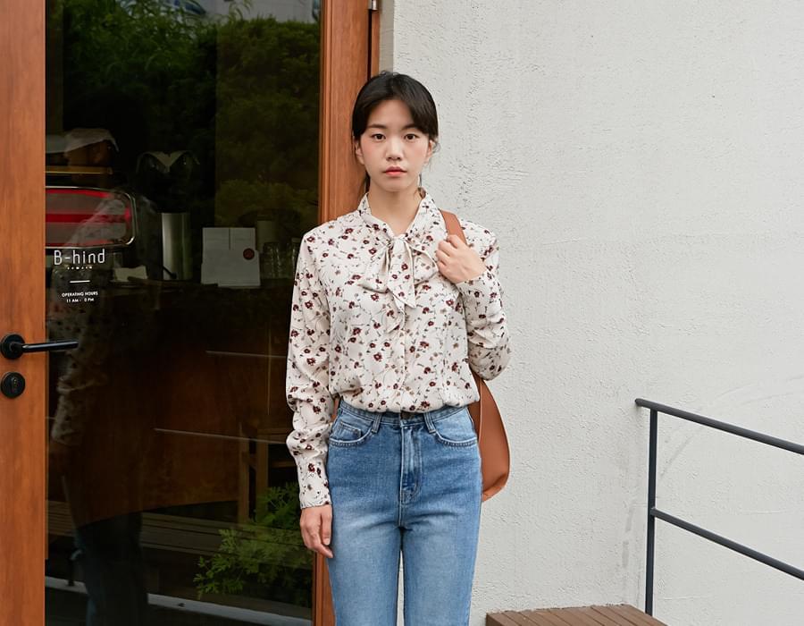 Pansy tie blouse_K (size : free)
