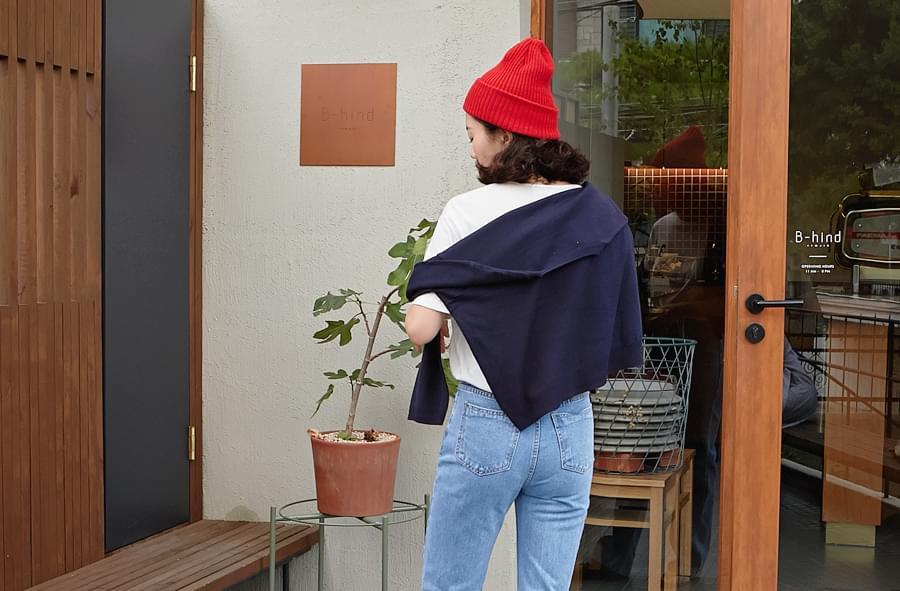 Cozy plain knit_H (size : free)
