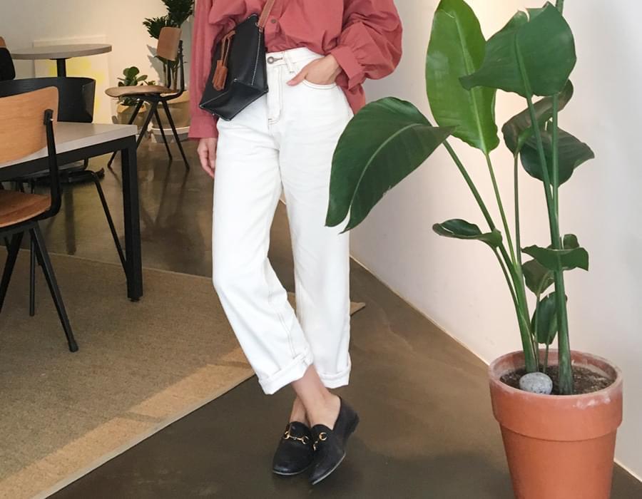 Grab stitch cotton pants_K (size : S,M)
