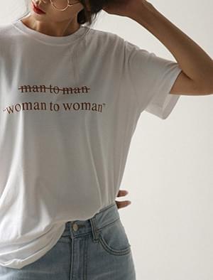 man to woman tee