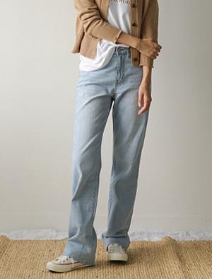 light blue maxi denim pants