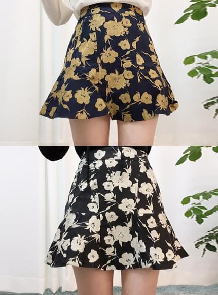 Jacquard flower skirt