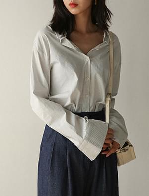 back point collar stripe shirts